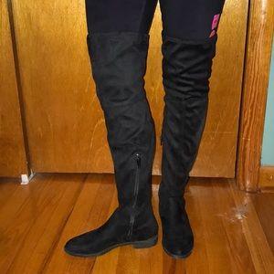 Simply Vera black thigh high boots